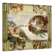 ''Creation of Adam'' Canvas Wall Art by Michelangelo