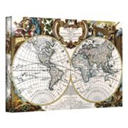 ''Antique World Map Circa 1499'' Canvas Wall Art