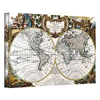 ''Antique World Map Circa 1499'' Canvas Wall Art