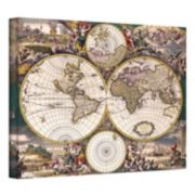 ''Terrarum Orbis Antique Map'' Canvas Wall Art