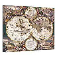 ''Terrarum Orbis Antique Map'' Canvas Wall Art