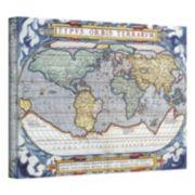 ''Typvs Orbis Terrarvm Antique Map'' Canvas Wall Art