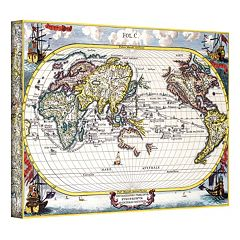 ''Navigationes Praecivae Evropaeorvm Antique Map'' Canvas Wall Art