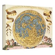 ''Tabula Selenographica Antique Map'' Canvas Wall Art