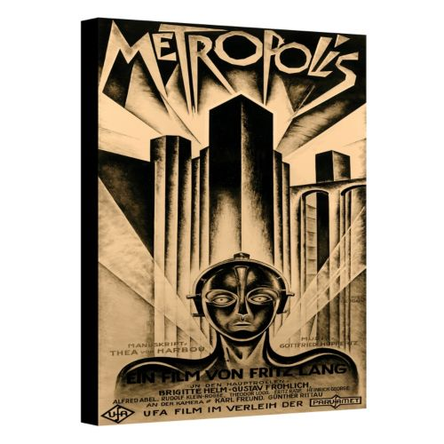 ''Metropolis'' Movie Poster Canvas Wall Art