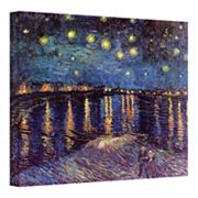 ''Starry Night Over the Rhone'' Canvas Wall Art by Vincent van Gogh