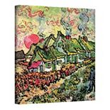 """Cottages Reminiscent of the North"" Canvas Wall Art by Vincent van Gogh"