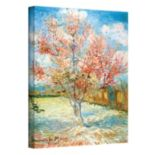 """Peach Tree in Bloom"" Canvas Wall Art by Vincent van Gogh"