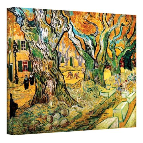 """""""The Road Menders"""" Canvas Wall Art by Vincent van Gogh"""