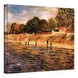 "''Banks of the Seine"" Canvas Wall Art by Vincent van Gogh"