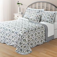 Home Classics® Clair Jacobean Reversible Bedspread Collection