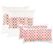 Safavieh 2 pc Geo Mountain Throw Pillow Set