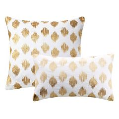 INK+IVY Nadia Metallic Dot Throw Pillow