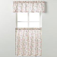 Saturday Knight, Ltd. Breaktime Tier Kitchen Window Curtains