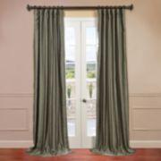 EFF Solid Yarn-Dyed Faux-Dupioni Silk Window Panel