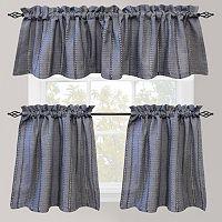 Park B. Smith Eyelet Chambray Tier Kitchen Window Curtains