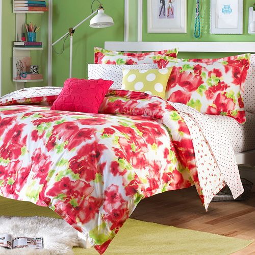 Teen Vogue Painted Poppy Reversible Bedding Collection
