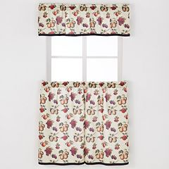 Saturday Knight, Ltd. Fruits Du Marche Tier Kitchen Window Curtains