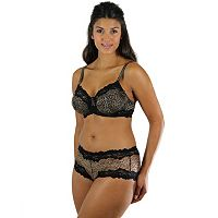 Lunaire Barbados Lace-Trim Full-Figure Demi Bra & Panties - Women's
