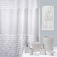 Creative Bath Ruffles Bathroom Accessories Collection