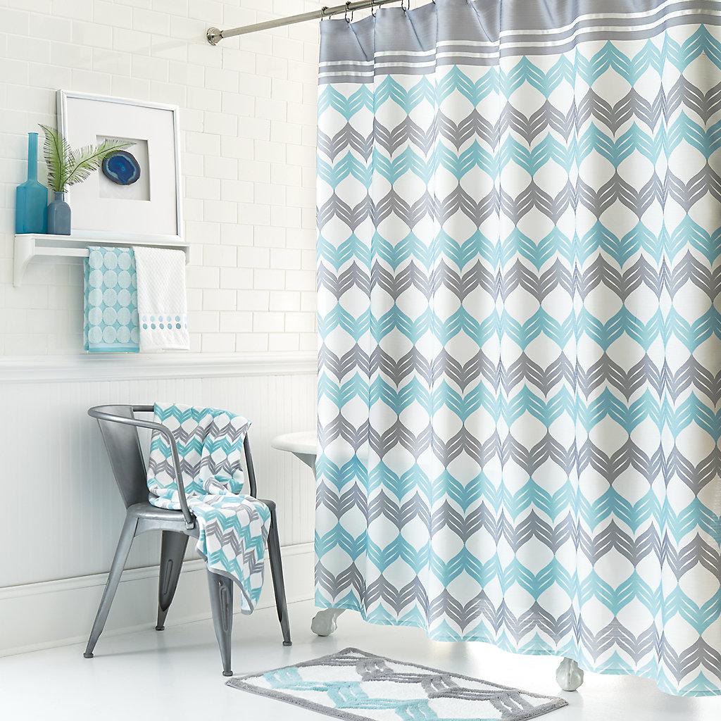 Mondrian Chevron Shower Curtain Collection