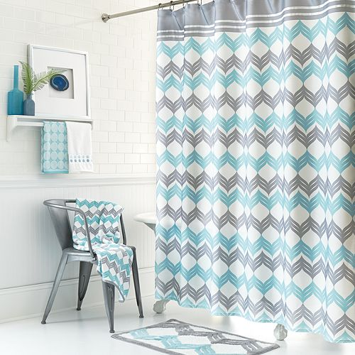Chevron Shower Curtain Collection