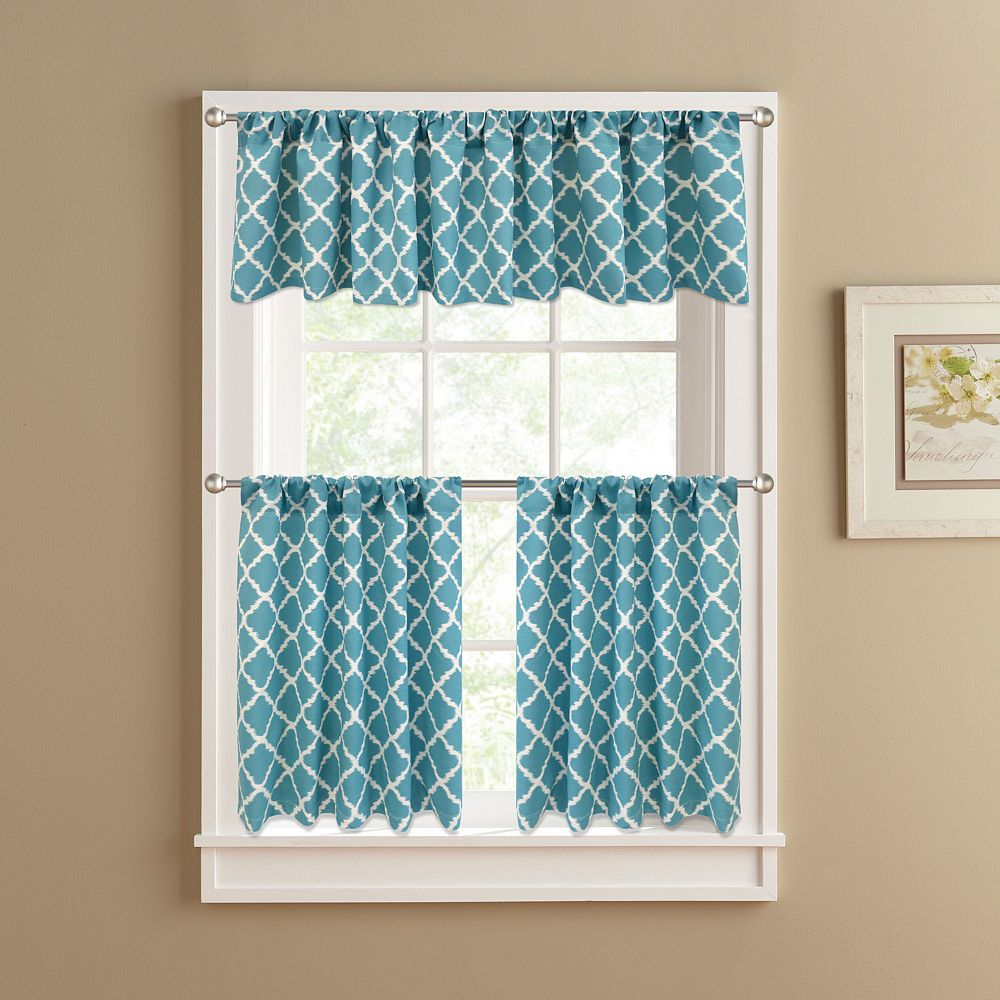 Of Kitchen Curtains Colordrift Misha Tier Kitchen Curtains