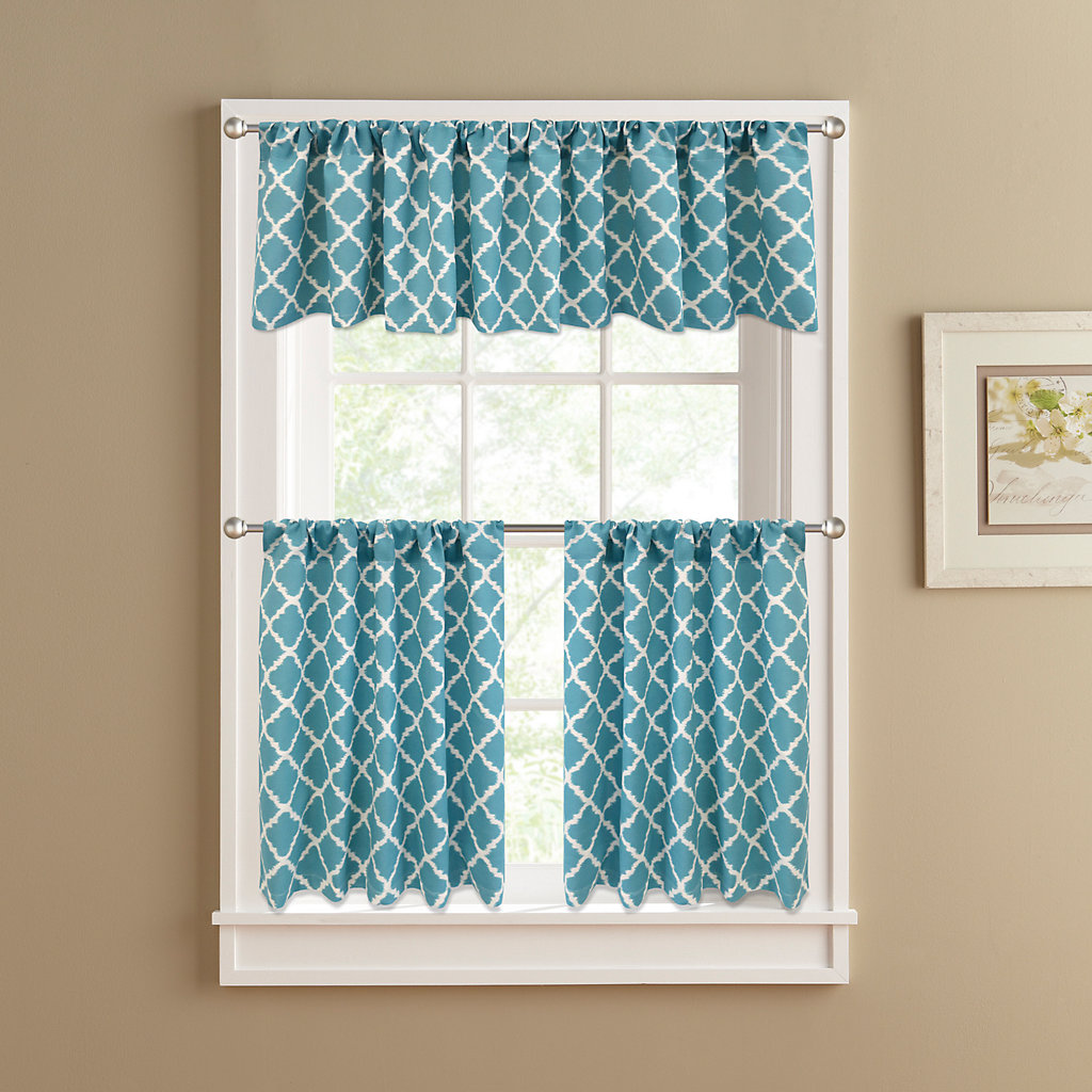 Colordrift Misha Tier Kitchen Curtains