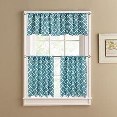Colordrift Misha Tier Kitchen Window Curtains