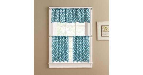 Kohl S Kitchen Curtains: Colordrift Misha Tier Kitchen Curtains