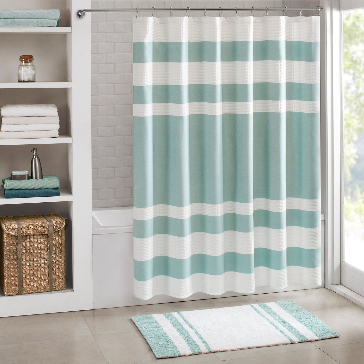 Charming Madison Park Spa Shower Curtain Collection
