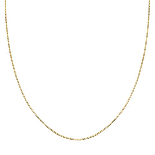 14k Gold Over Silver Box Chain Necklace