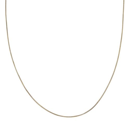 14k Gold Over Silver Snake Chain Necklace