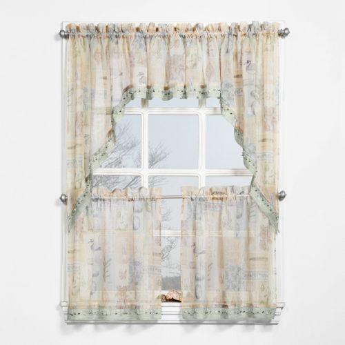 No918 Marina Swag Tier Kitchen Curtains