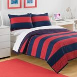 IZOD Nottingham Stripe Reversible Quilt Collection