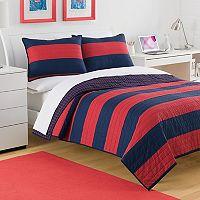 IZOD Nottingham Stripe Reversible Quilt Collection