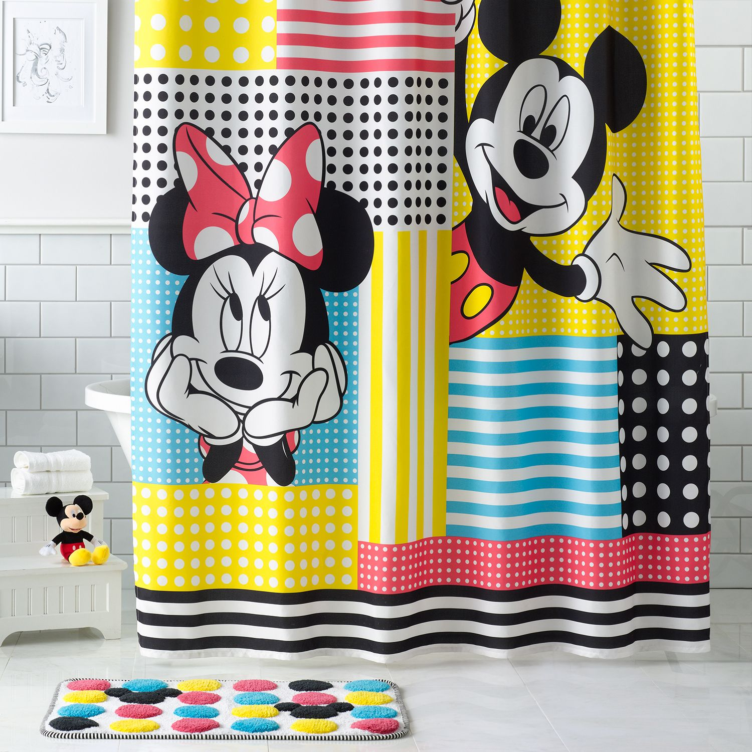Nice Disneyu0027s Mickey U0026 Minnie Mouse Shower Curtain Collection By Jumping Beans®