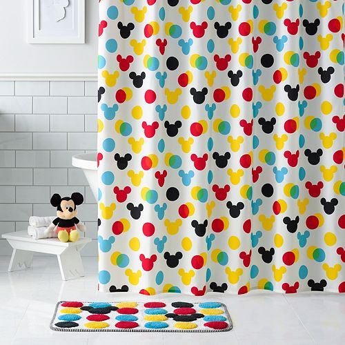 Disneys Minnie Mickey Mouse Shower Curtain Collection By Jumping BeansR