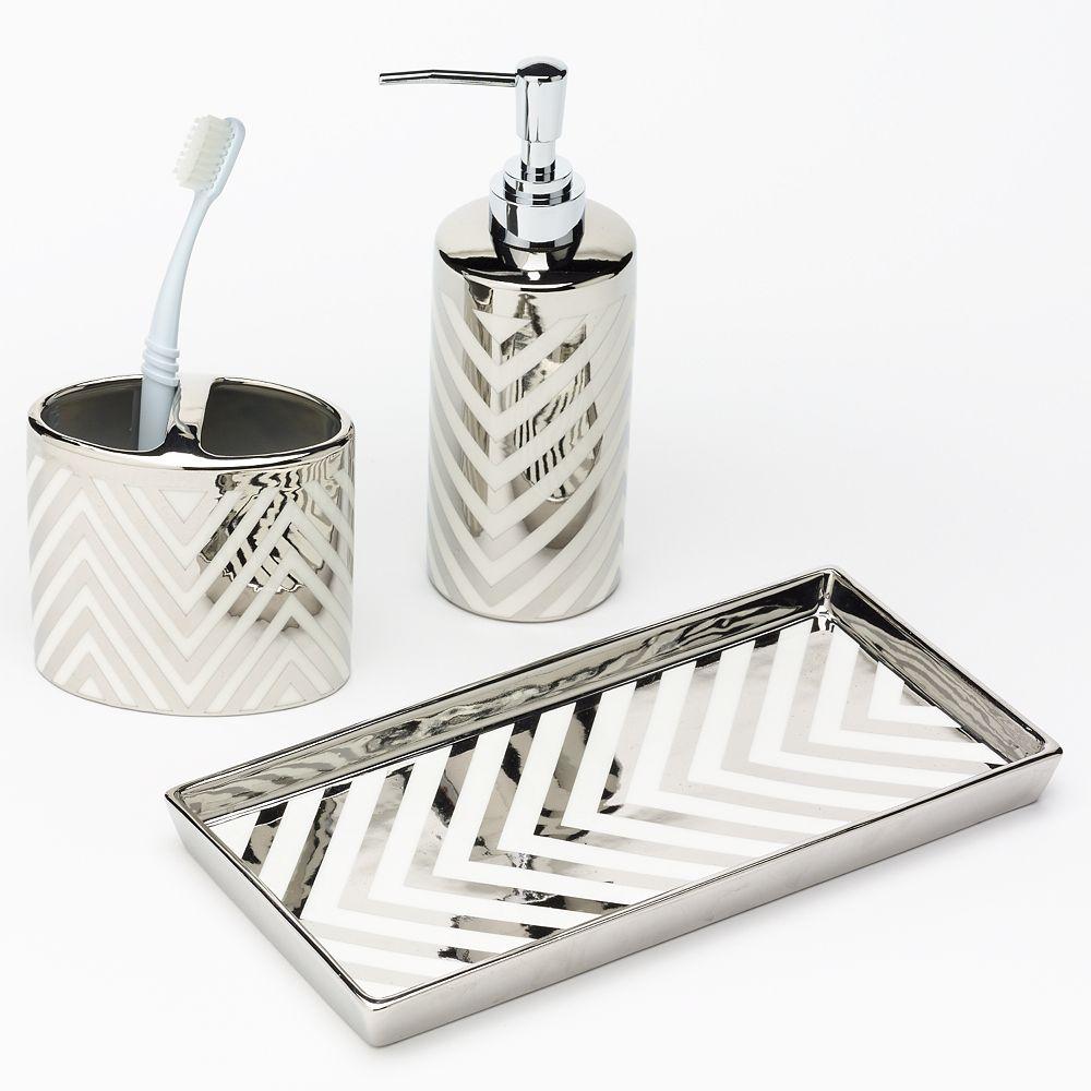 Chevron Bathroom Accessories Collection, Chevron Bathroom Accessories