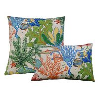 Edie, Inc. Splish Splash Outdoor Throw Pillow