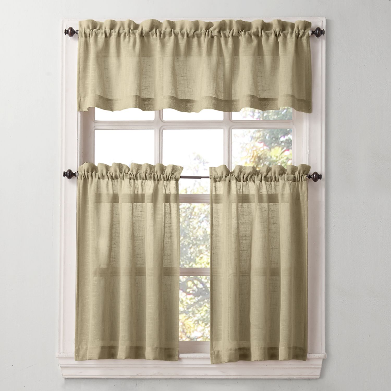 SONOMA Goods For Life™ Ayden Linen Blend Tier Kitchen Window Curtains