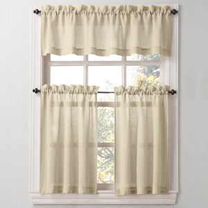 Sonoma Goods For Life® Ayden Linen Blend Tier Kitchen Window Curtains