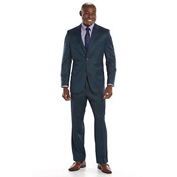 Steve Harvey Classic-Fit Blue Suit Separates - Men