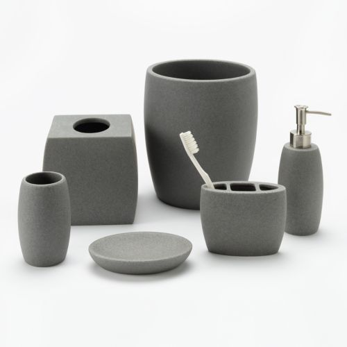 classics® gray resin bathroom accessories collection