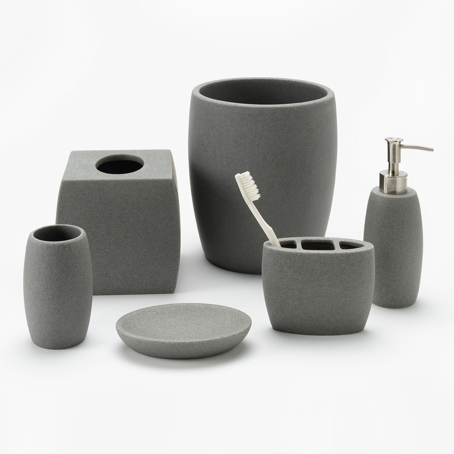 Home Classics® Gray Resin Bathroom Accessories Collection