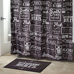 Chalk It Up Shower Curtain Collection