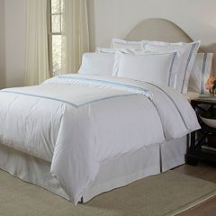 Pointehaven 300-Thread Count Embroidered Duvet Cover Collection