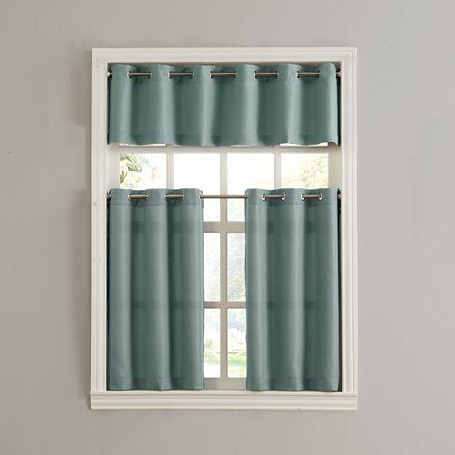 donahue tier kitchen window curtains - Kitchen Window Curtains
