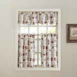 Espresso Coffee Tier Kitchen Window Curtains