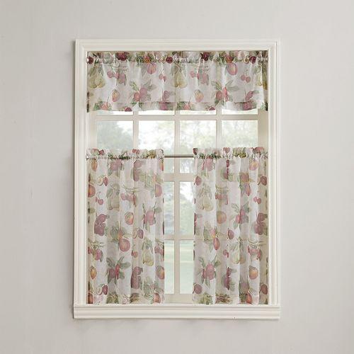 Summer Orchard Tier Kitchen Window Curtains
